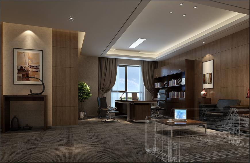 行长办公室,中型会议室,贵宾接待室等区域,高嘉地毯提供专业的铺装